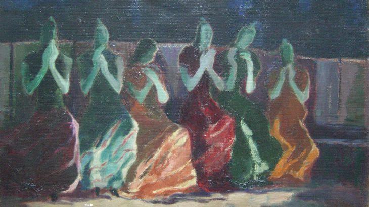 Jo Jones - Gypsies applauding a dance at night