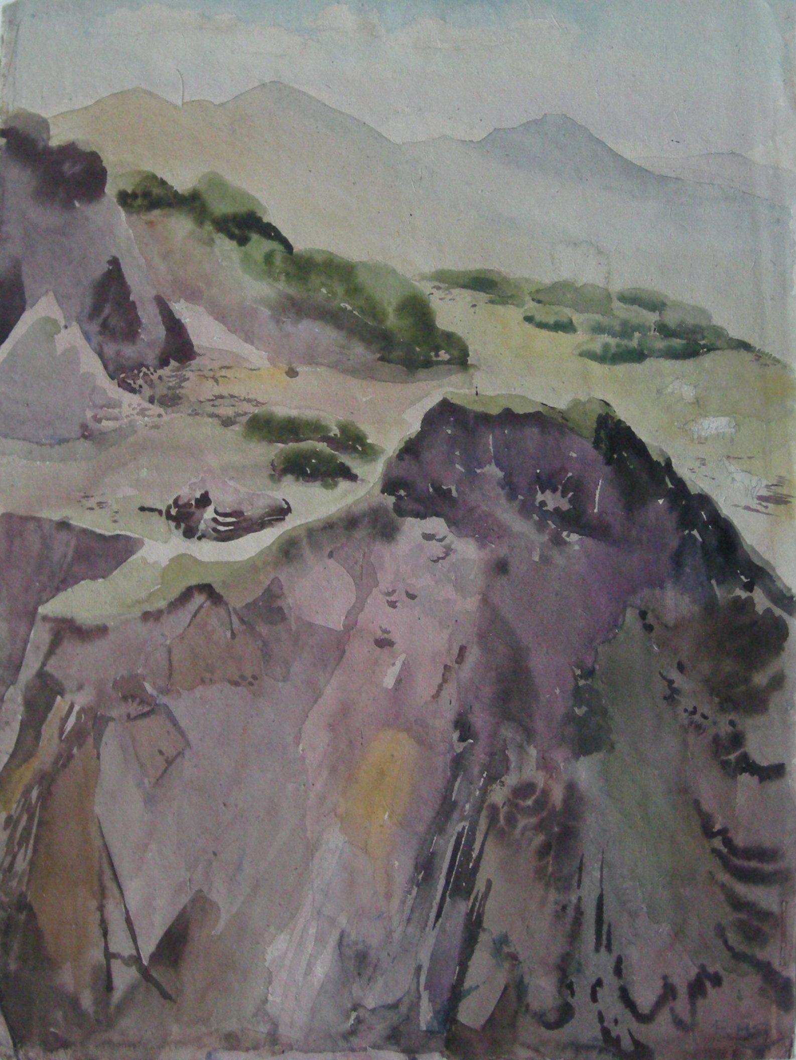 Rudolf Sauter - rocky cliff