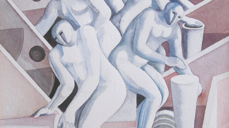 "Handel Evans - Colour-Study for ""The Mechanical Men"""