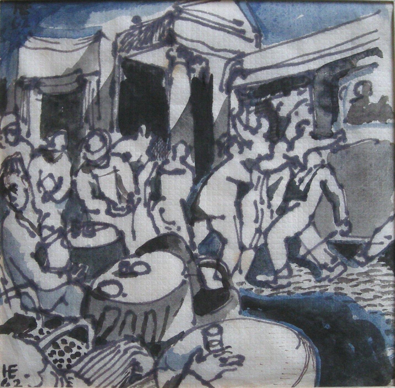 Handel Evans - Boarding a Roman bus